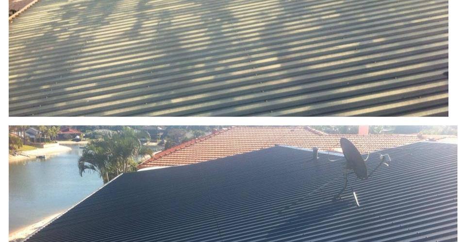 Colour bond roof repaint.